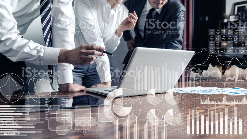 Business statistics concept. Business statistics concept. Adult Stock Photo