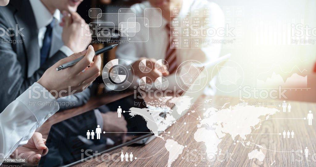 Statistieken bedrijfsconcept. - Royalty-free Advies Stockfoto