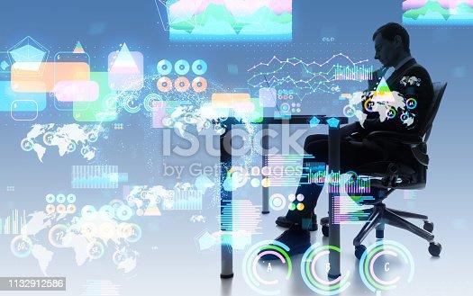 1154268620 istock photo Business statistics concept. 1132912586