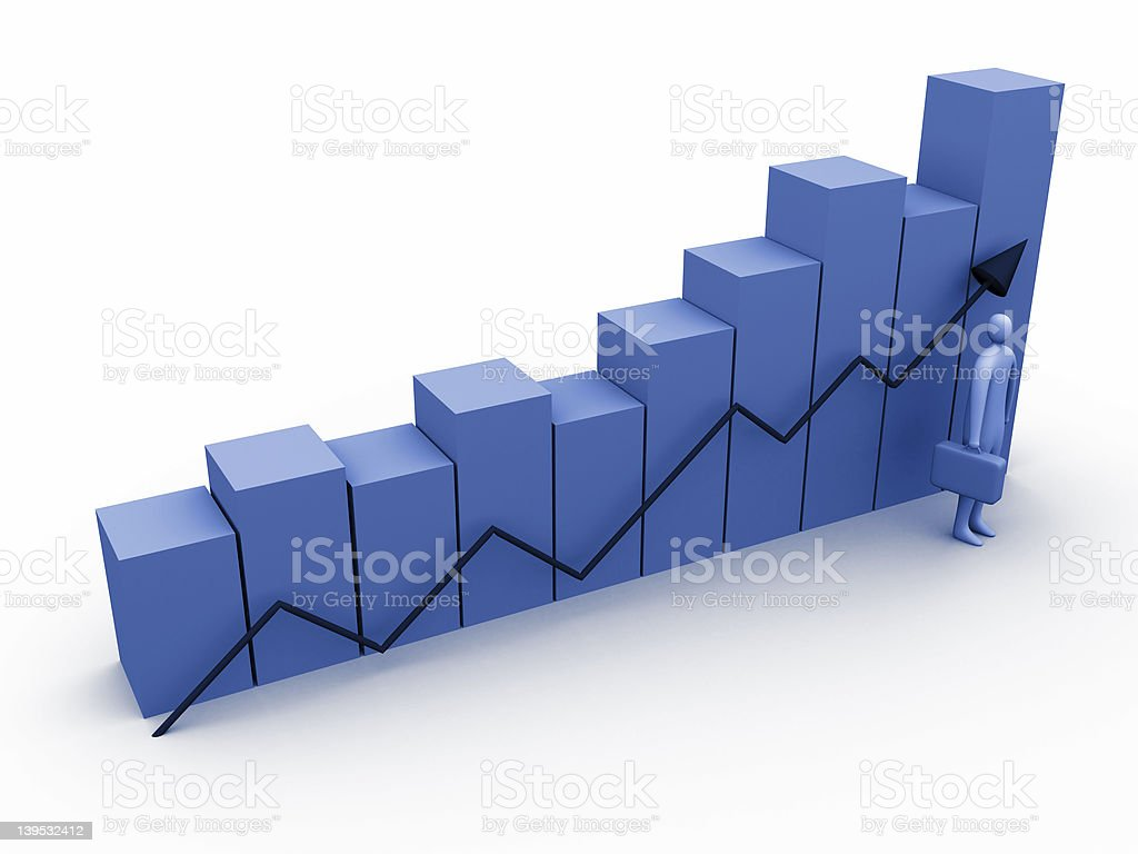Business statistics #1 royalty-free stock photo