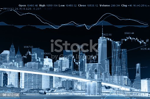 istock Business stock market chart graph investment future office building 981612706