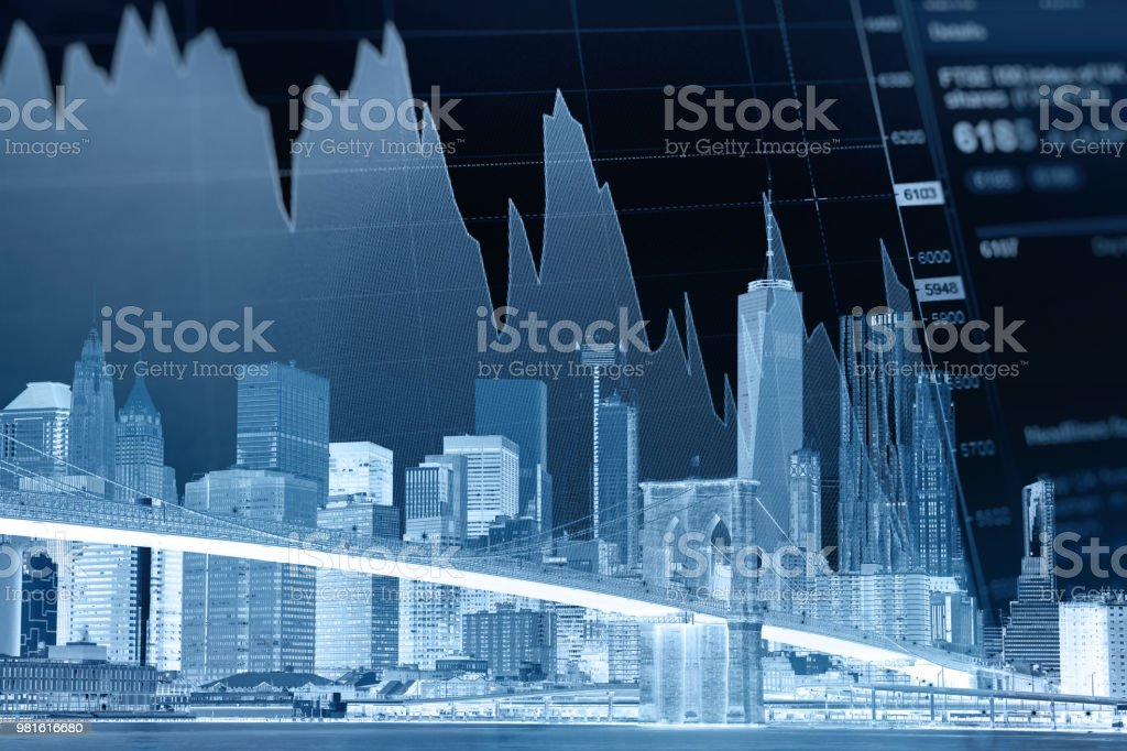 Business stock market chart graph investment future office building