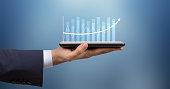 istock Business strategy and digital data, business technology, digital marketing. 1278040408
