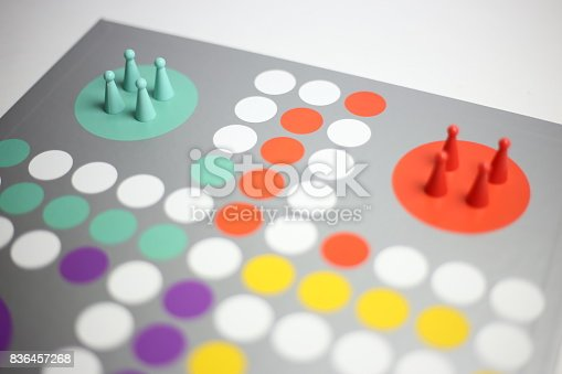 Business strategy concept, colorful board game, solitaire