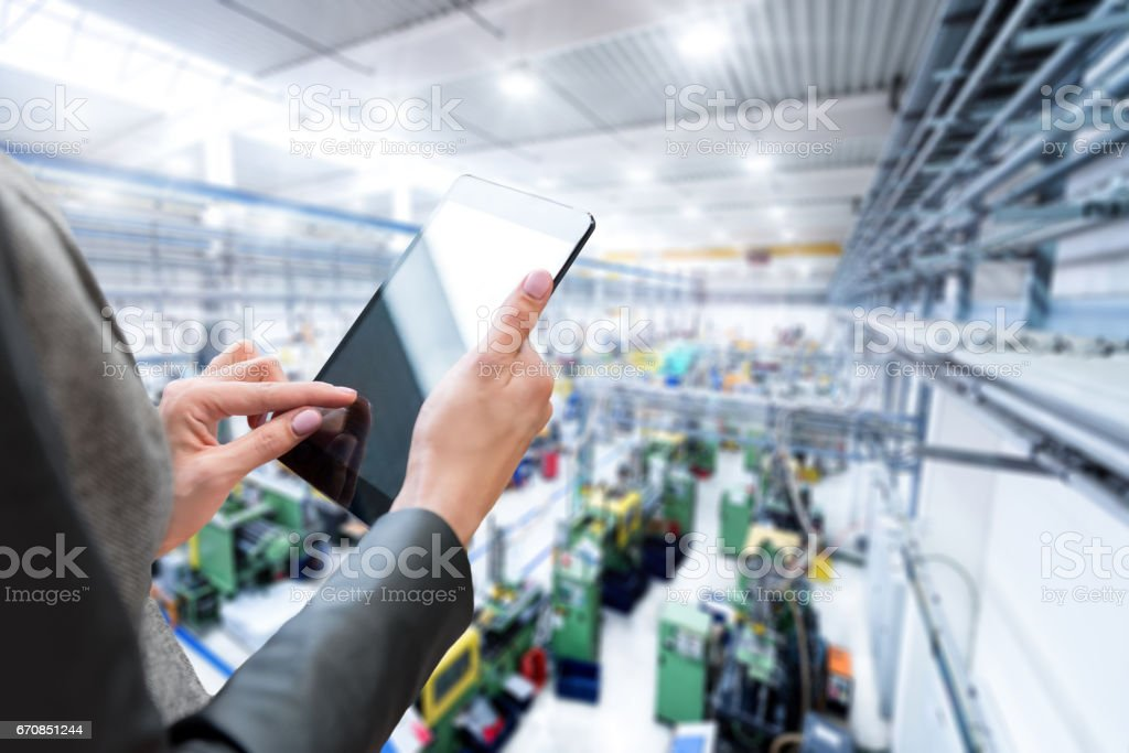 Business strategy in factory stock photo