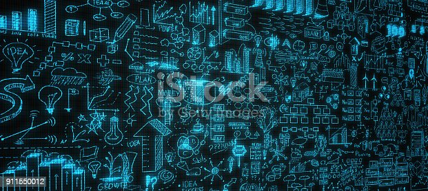 istock Business strategy on digital screen 911550012