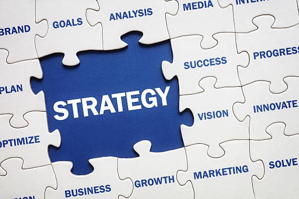 business strategy - geschäftsstrategie stock-fotos und bilder