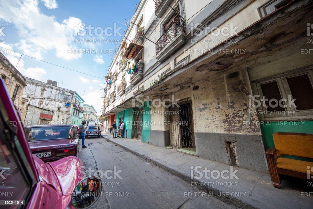 Business Streets of havana, cuba stock photo