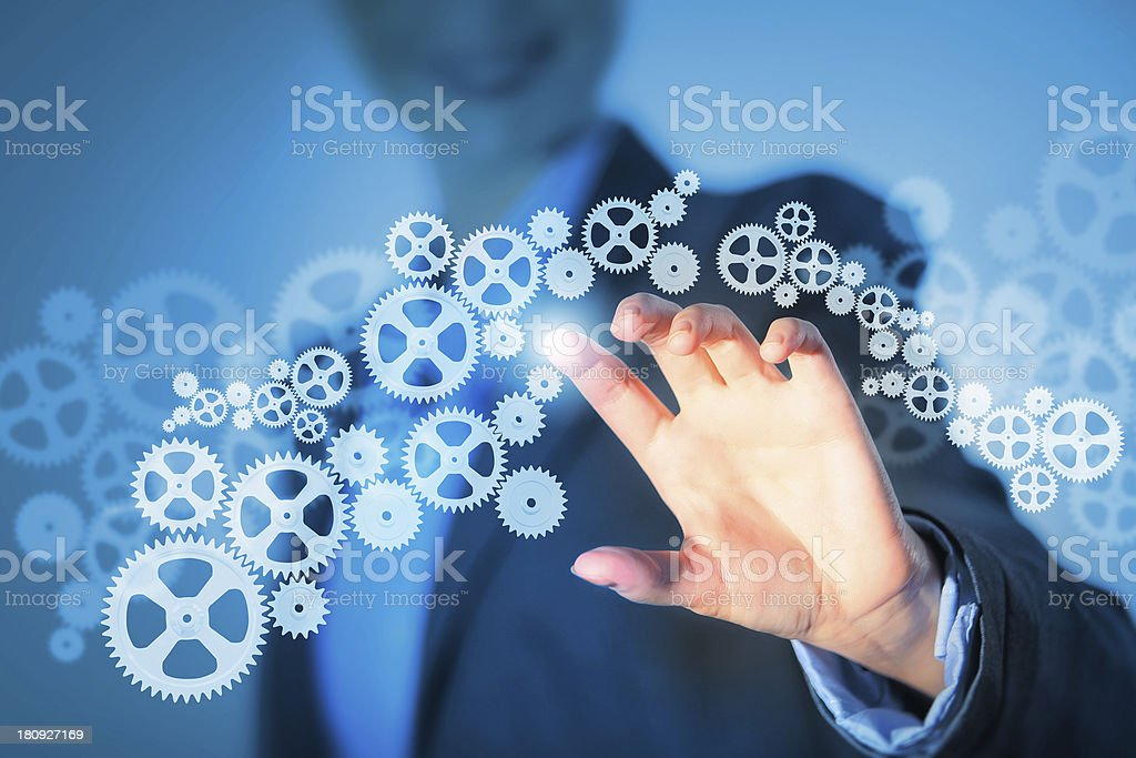 Business structure stock photo