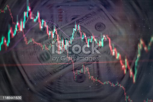896567272istockphoto Business success and growth concept.Stock market business graph chart on digital screen. Economic graph with diagrams on the stock market, for business and financial concepts and reports.Abstract blue background. 1185441520