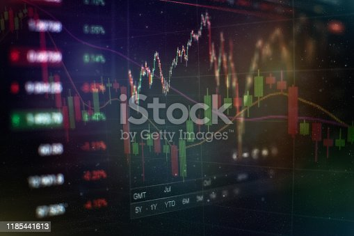 896567272istockphoto Business success and growth concept.Stock market business graph chart on digital screen. Economic graph with diagrams on the stock market, for business and financial concepts and reports.Abstract blue background. 1185441613