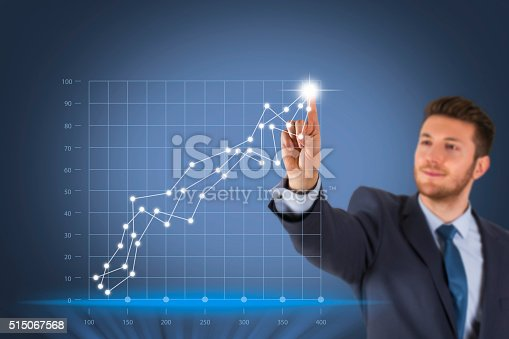 622809570 istock photo Business Success Concept on Screen 515067568