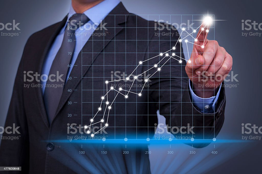 Business Success Graph Concept stock photo