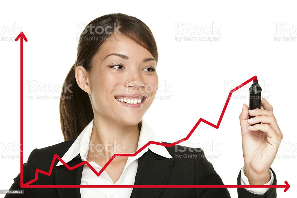 Business success growth chart royalty-free stock photo