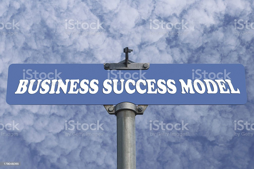 Business success model road sign royalty-free stock photo