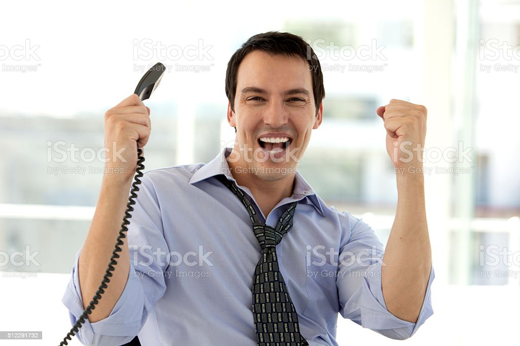 Business Success on the phone stock photo