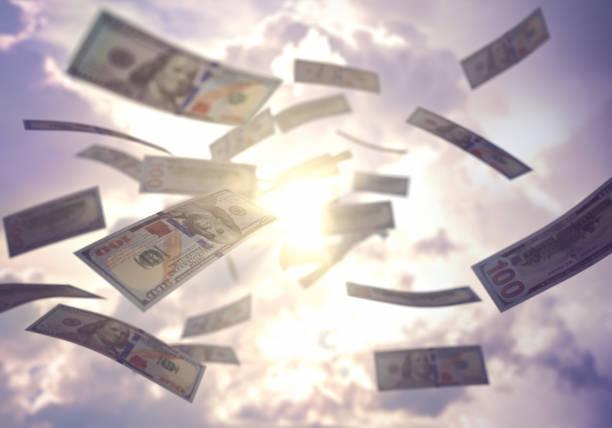 Geschäftserfolg Regen uns US-Dollar – Foto