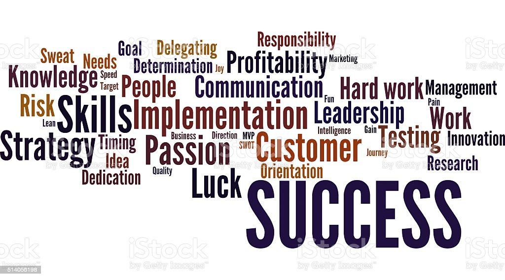Business Success Word cloud -Colorful stock photo