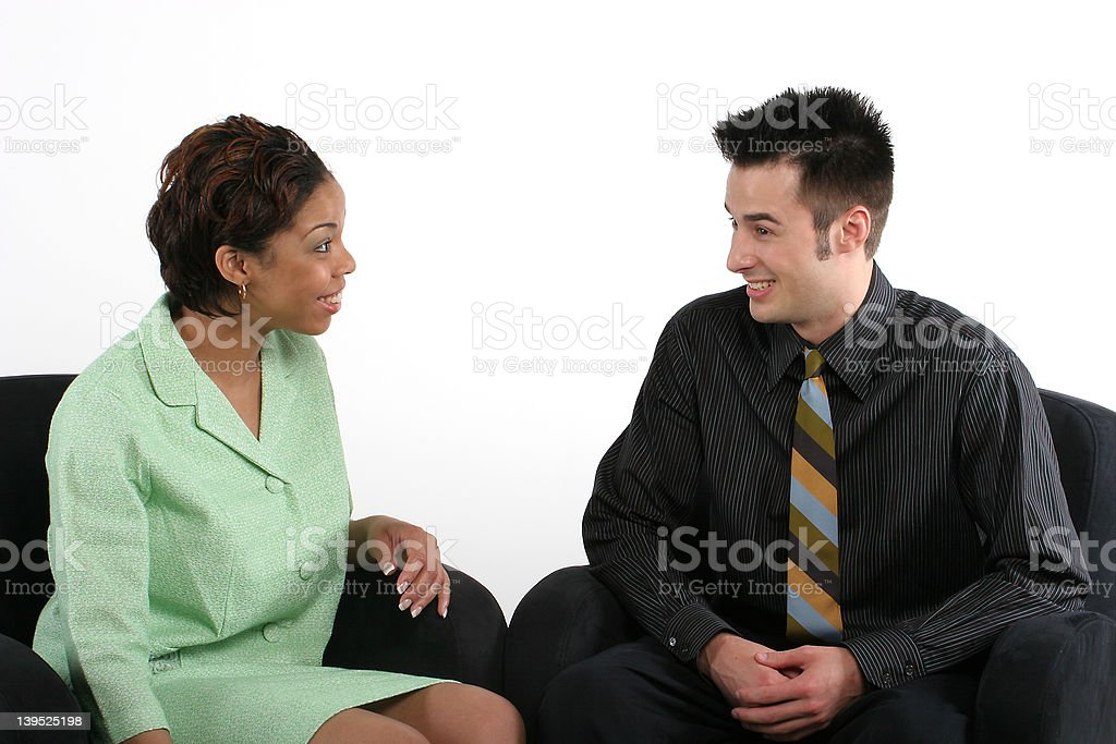 Business - Successful Partners royalty-free stock photo