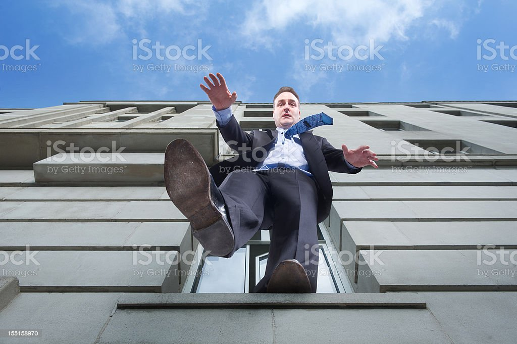business suicide stock photo