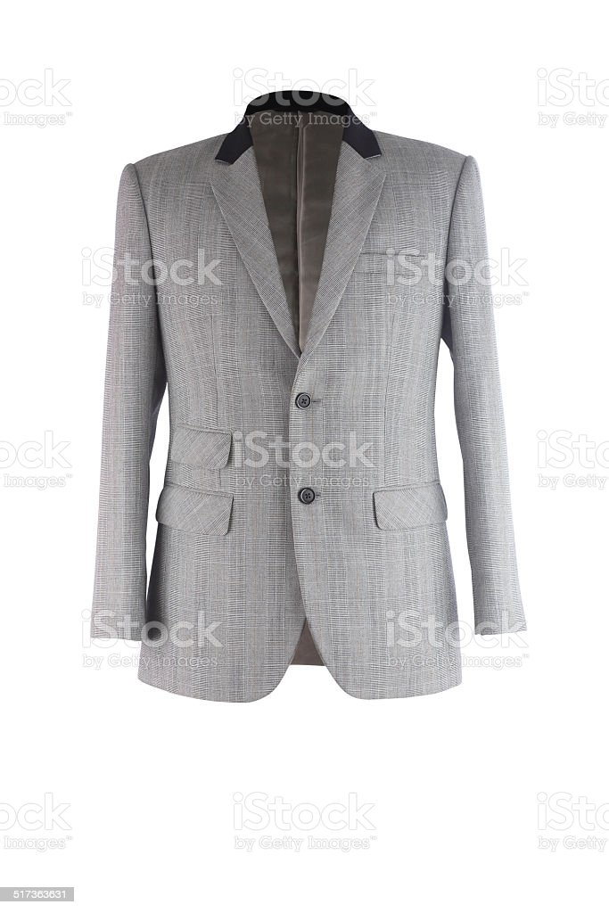 Business suit isolated on white stock photo