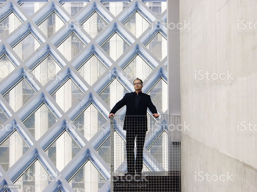 Business Suit on a Balcony 1 royalty-free stock photo