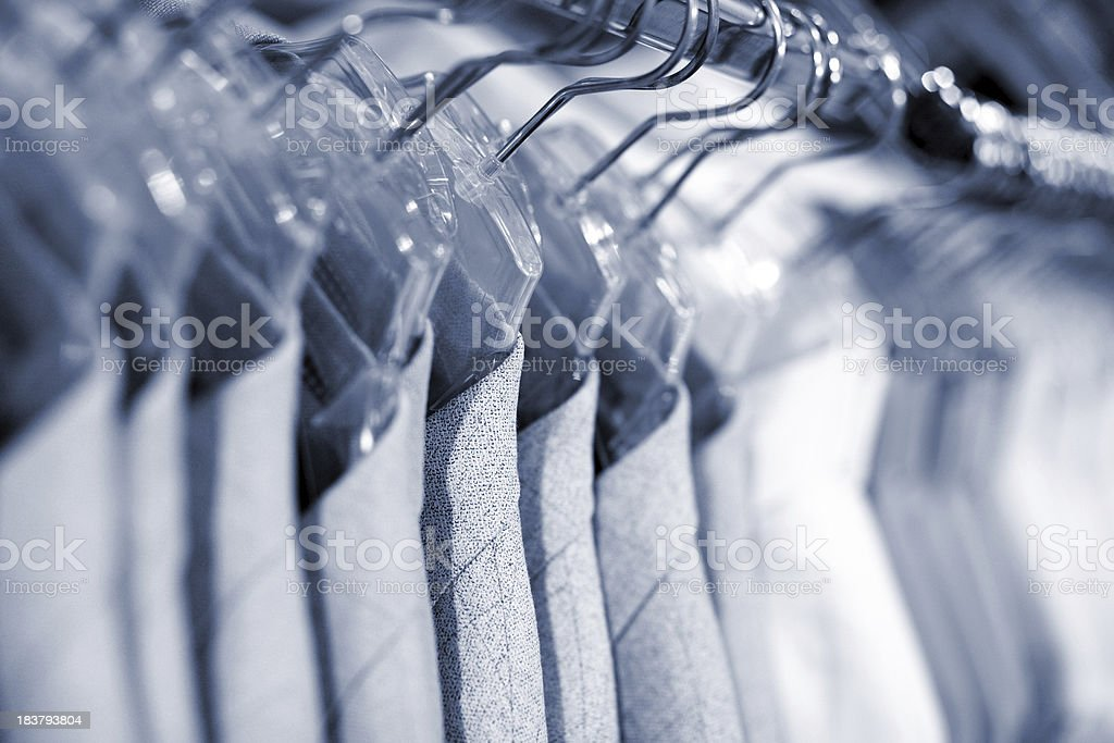 business suit on clothes rail royalty-free stock photo
