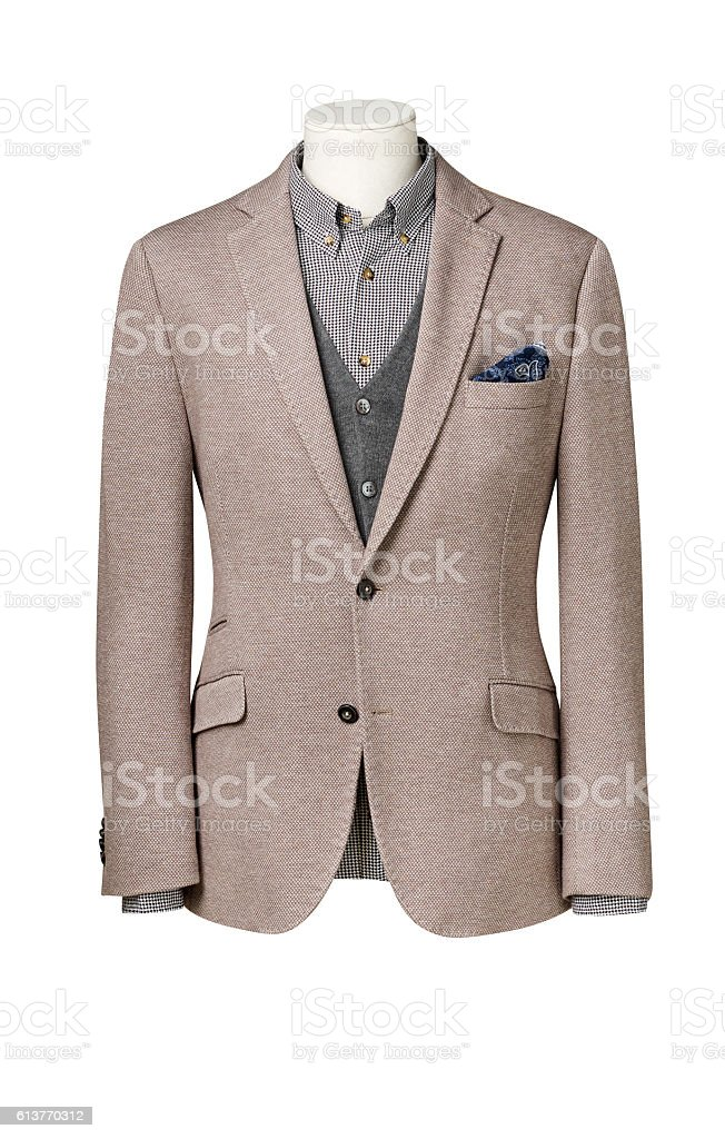 business suit on Mannequin with clipping path stock photo