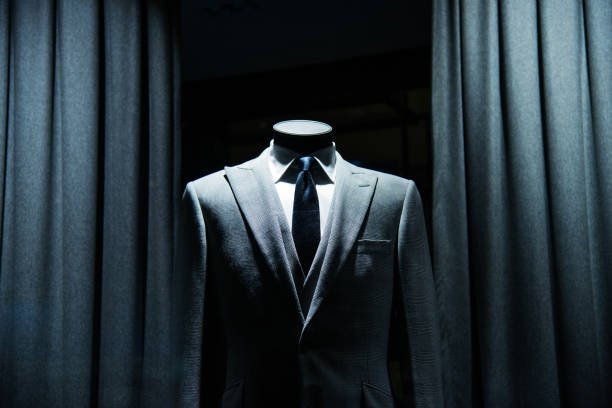 business suit store stock photo