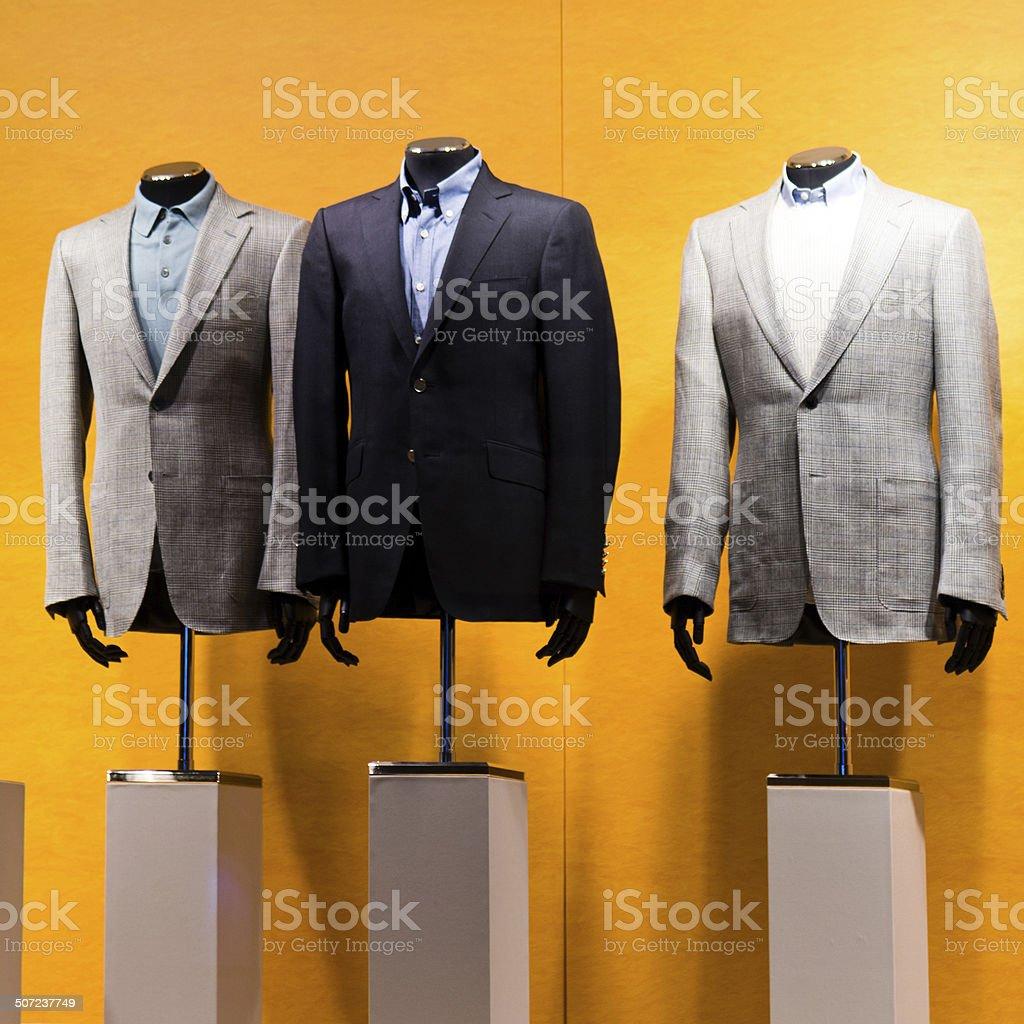 business-Anzug-store Lizenzfreies stock-foto