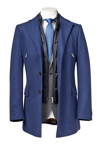 business suit with coat with clipping path stock photo