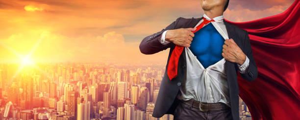 super-herói de negócios. mídia mista - capuz - fotografias e filmes do acervo