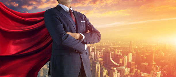 Business-Superheld. Mixed-media – Foto