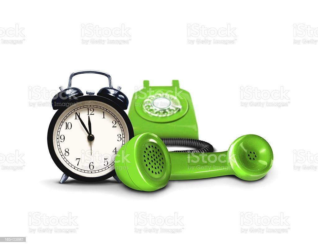 Business support call around the clock royalty-free stock photo