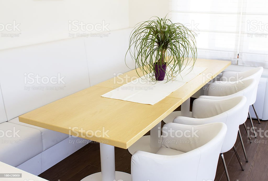 Business table with chairs royalty-free stock photo