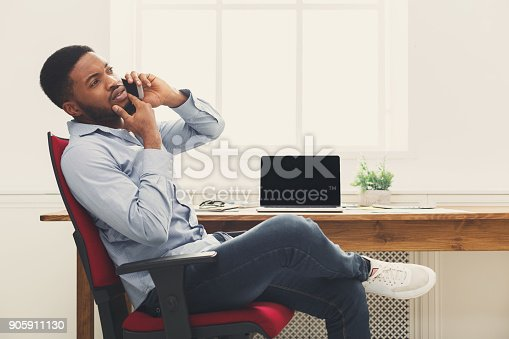 istock Business talk, woman consulting by phone at office 905911130