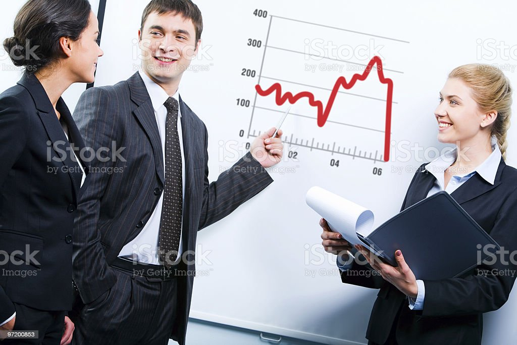 Business teaching royalty-free stock photo