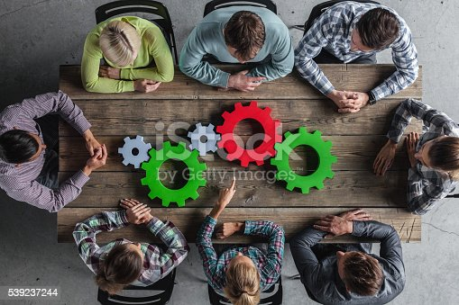 Business Team And Cogs Stock Photo & More Pictures of Adult