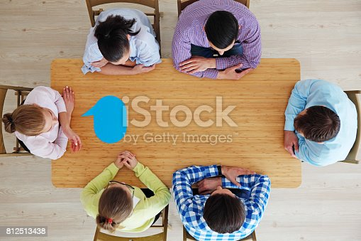 istock Business team and dialog boxes 812513438