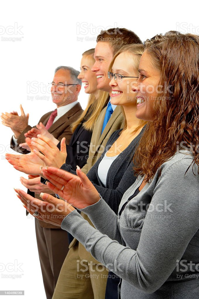 Business team applauding! royalty-free stock photo