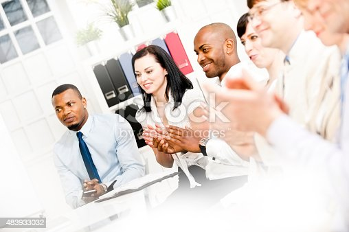 istock Business team applauding 483933032