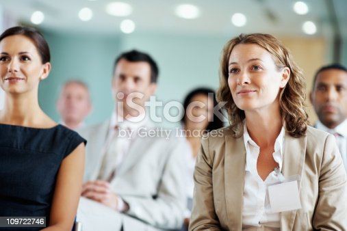 istock Business team at a seminar 109722746