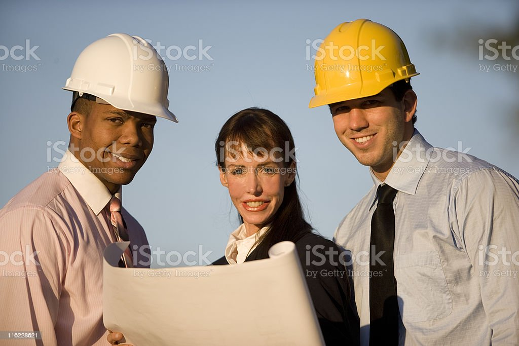 Business Team At Construction Site royalty-free stock photo