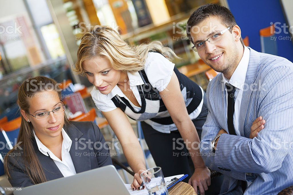 Business team at meeting royalty-free stock photo