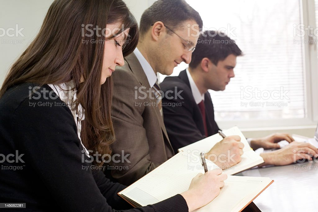 business team at the meeting royalty-free stock photo