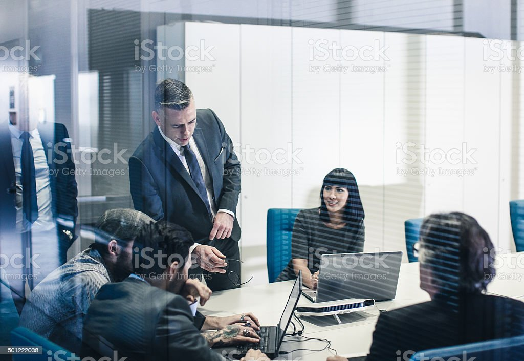 Business team at the office stock photo