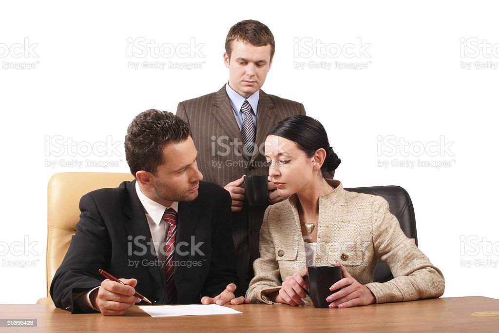 Business team at work - horizontal - Royalty-free Adult Stock Photo