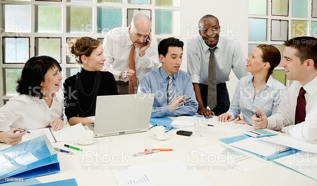 Business team at work. royalty-free stock photo