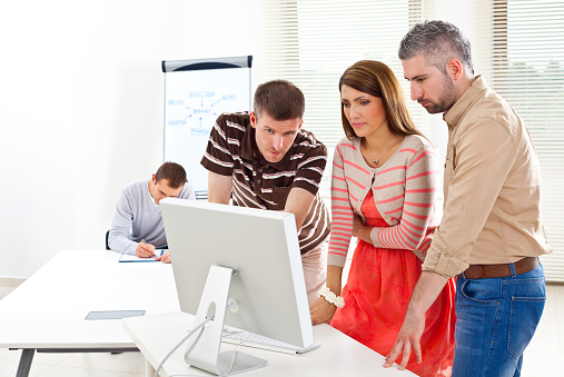 Business Team At Work Stock Photo - Download Image Now