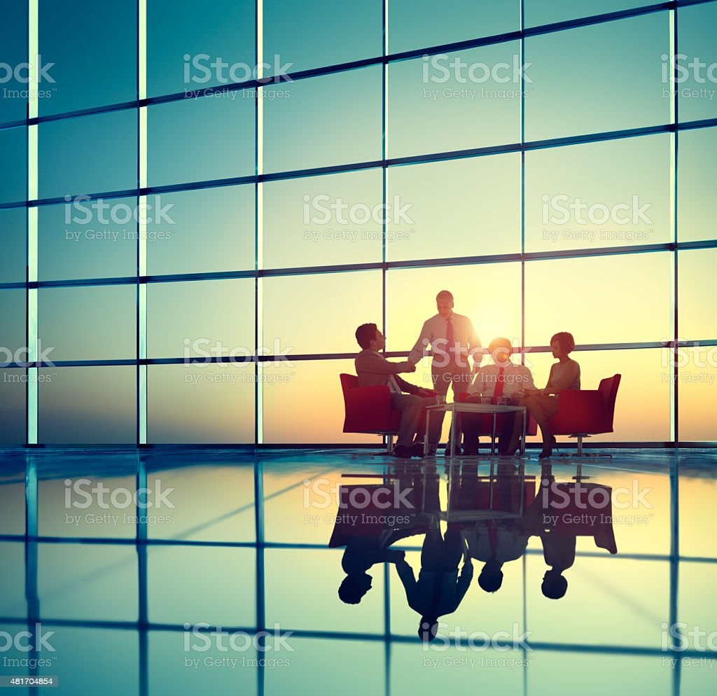 Business Team Brainstorming Meeting Conference Concept stock photo